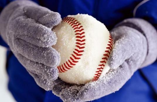 Baseball snow